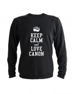Свитшот Keep calm and go love canon черный