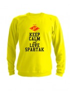 Свитшот Keep calm and love spartak желтый