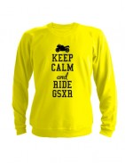 Свитшот Keep calm and ride gsxr желтый