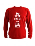Свитшот Keep calm and ride gsxr красный