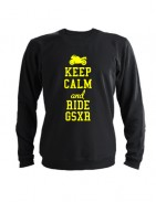 Свитшот Keep calm and ride gsxr черный