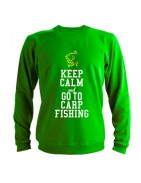 Свитшот Keep calm ang go to carp fishing зеленый