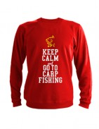 Свитшот Keep calm ang go to carp fishing красный