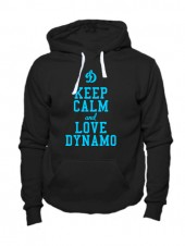 Толстовка Keep calm and love dynamo черная