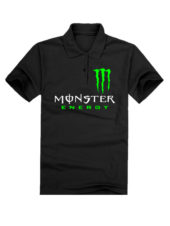 Футболка поло Monster energy черная