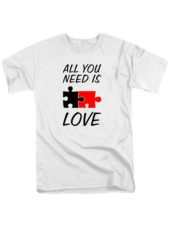 Футболка All you need is love белая