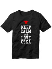 Футболка Keep calm and love cska черная