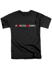 Футболка No Russia no games черная