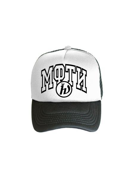 Бейсболка МФТИ бело-черная
