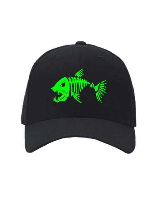 Бейсболка Злая рыба черная
