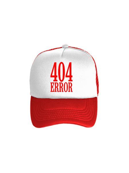 Бейсболка 404 error бело-красная