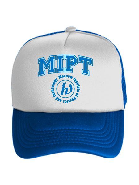 Бейсболка MIPT бело-синяя