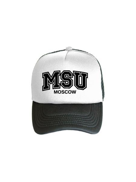 Бейсболка MSU бело-черная