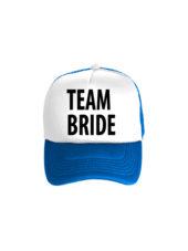 Бейсболка Team bride бело-синяя