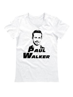 Женская футболка Paul Walker белая