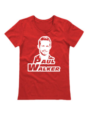 Женская футболка Paul Walker красная
