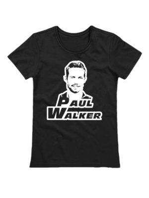 Женская футболка Paul Walker черная