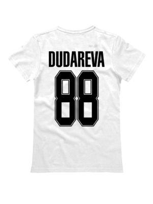 Именная женская футболка classik sport 2 белая