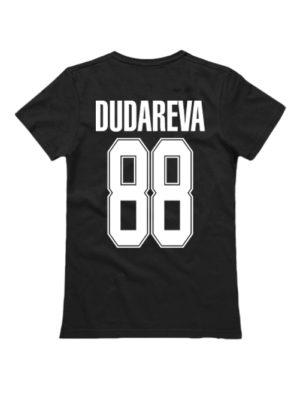 Именная женская футболка classik sport 2 черная