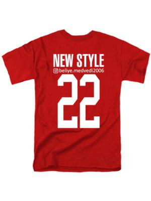 Именная футболка Style insta красная