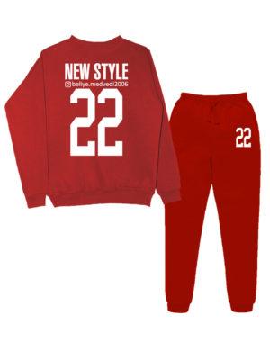 Именной костюм Style insta красный