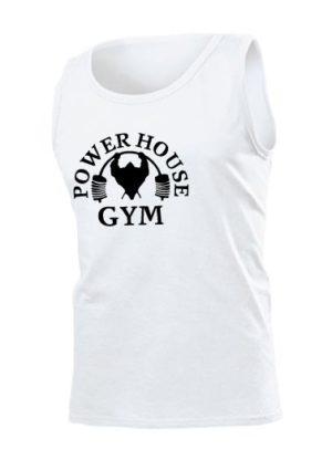 Майка Power house gym мужская белая