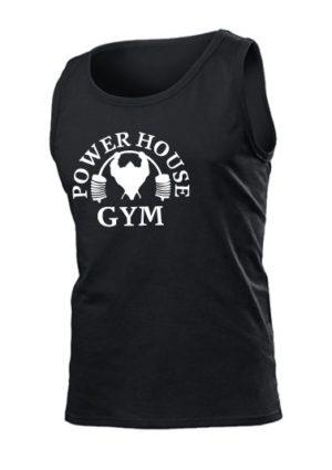 Майка Power house gym мужская черная