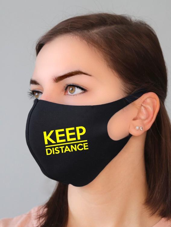 Маска Keep distance черная