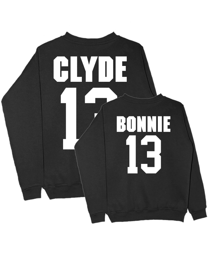 Парные свитшоты Bonnie Clyde черные