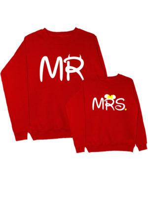 Парные свитшоты Mr-Mrs красные