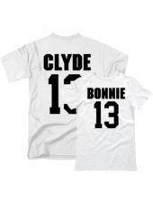 Парные футболки Bonnie Clyde белые
