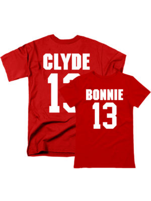 Парные футболки Bonnie Clyde красные