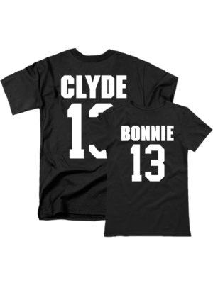 Парные футболки Bonnie Clyde черные