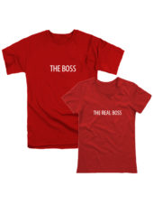 Парные футболки Boss-Real Boss красные