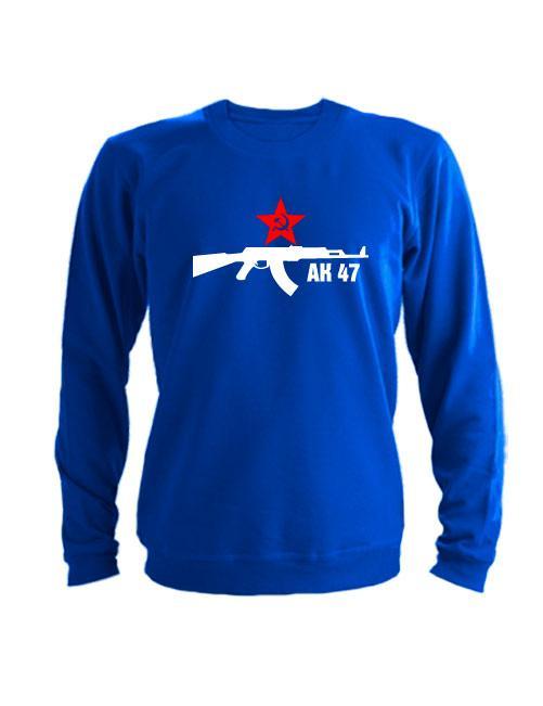 Свитшот АК 47 синий