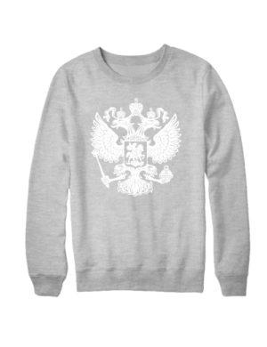 Свитшот Герб РФ серый меланж