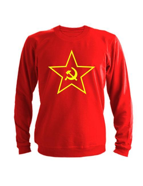 Свитшот Звезда СССР красный