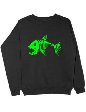 Свитшот Злая рыба черный