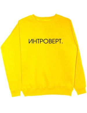 Свитшот Интроверт желтый