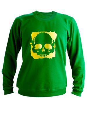 Свитшот С черепом зеленый