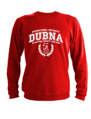 Свитшот Университет Дубна красный