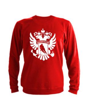 Свитшот Хоккей России красный