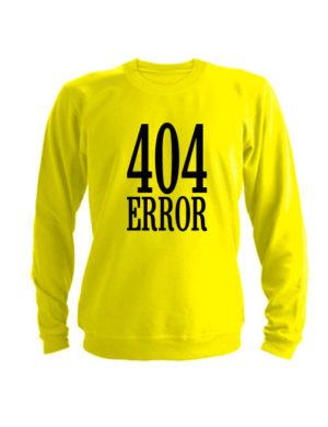 Свитшот 404 error желтый