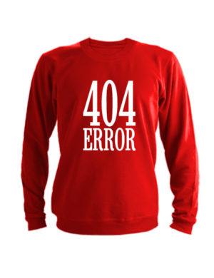 Свитшот 404 error красный