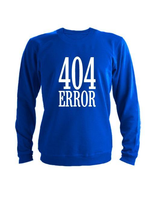 Свитшот 404 error синий