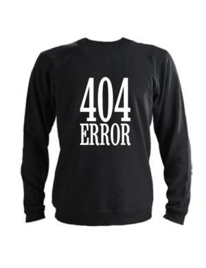 Свитшот 404 error черный