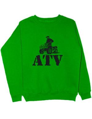 Свитшот ATV зеленый
