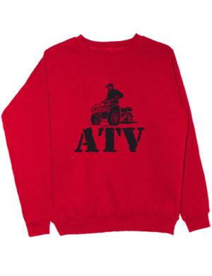 Свитшот ATV красный
