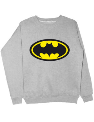 Свитшот Batman серый меланж