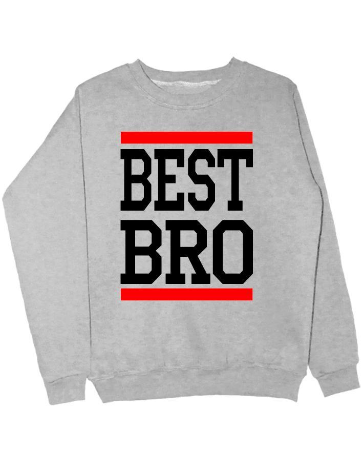 Свитшот Best Bro серый